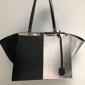 Fendi 3Jours Bag - large, silver, black, rare